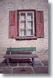 benches, europe, switzerland, vertical, windows, zermatt, photograph