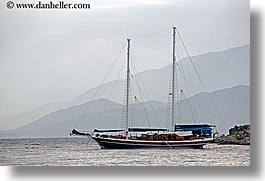 boats, cevri hasan, europe, gulet, horizontal, schooner, turkeys, photograph