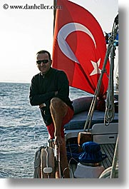 boats, captain, cevri hasan, europe, flags, gulet, men, people, schooner, turkeys, vertical, photograph