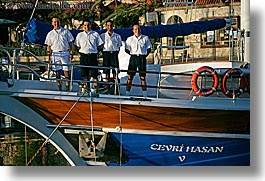 boats, cevri hasan, crew, europe, gulet, horizontal, men, people, schooner, turkeys, photograph