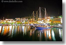 boats, cevri hasan, europe, gulet, horizontal, long exposure, nite, schooner, turkeys, photograph
