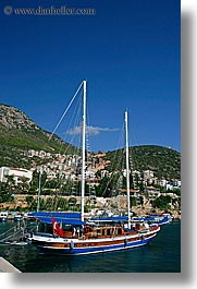 boats, cevri hasan, europe, gulet, schooner, sunny, turkeys, vertical, photograph