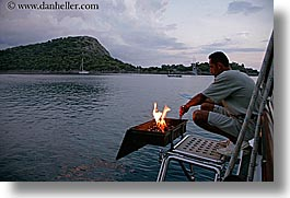 boatside, cevri hasan, cooking, europe, horizontal, turkeys, photograph