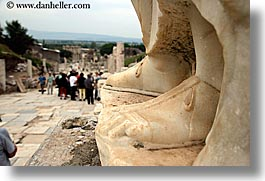 architectural ruins, curetes, ephesus, europe, feet, horizontal, streets, turkeys, photograph