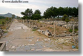 architectural ruins, ephesus, europe, harbor, horizontal, streets, turkeys, photograph