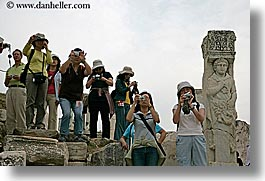 architectural ruins, ephesus, europe, horizontal, humor, japanese, people, photographers, tourists, turkeys, photograph