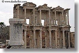architectural ruins, ephesus, europe, horizontal, library, turkeys, photograph