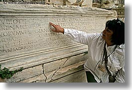 architectural ruins, ephesus, europe, horizontal, inscription, library, turkeys, womens, photograph