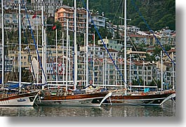 boats, europe, fethiye, harbor, horizontal, turkeys, photograph