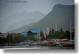 boats, europe, fethiye, harbor, horizontal, mountains, turkeys, photograph