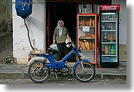 europe, fethiye, horizontal, motorcycles, old, turkeys, womens, photograph