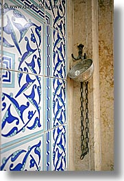 cups, europe, fethiye, tiles, turkeys, vertical, water, photograph