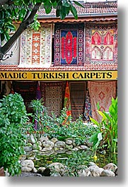 europe, fethiye, gardens, rugs, turkeys, turkish, vertical, photograph