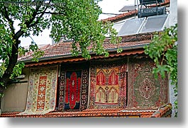 europe, fethiye, horizontal, rugs, trees, turkeys, turkish, photograph