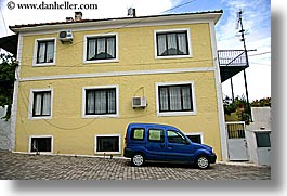 blues, buildings, cars, europe, fethiye, horizontal, turkeys, yellow, photograph