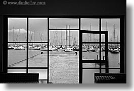 abstracts, black and white, europe, finike, harbor, horizontal, turkeys, photograph