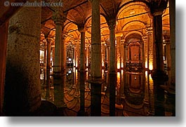 arches, basilica cistern, europe, horizontal, istanbul, long exposure, pillars, stones, turkeys, photograph