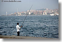 bosphorus, europe, fishing, horizontal, istanbul, men, turkeys, photograph