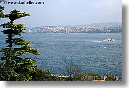 boats, bosphorus, europe, horizontal, istanbul, rivers, trees, turkeys, photograph