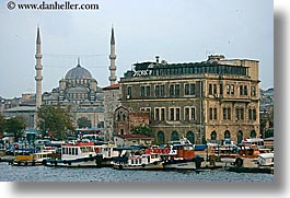 europe, horizontal, istanbul, mosques, rivers, turkeys, yenicami, photograph