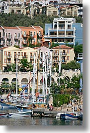 europe, harbor, kalkan, towns, turkeys, vertical, photograph