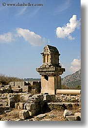architectural ruins, europe, kalkan, lycian, tombs, turkeys, vertical, photograph