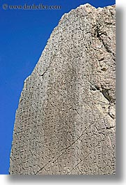 architectural ruins, europe, kalkan, lycian, stones, turkeys, vertical, writing, photograph