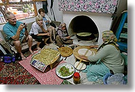 crepes, europe, horizontal, kalkan, making, turkeys, turkish, womens, photograph