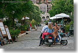 couples, europe, horizontal, kalkan, men, motorcycles, turkeys, womens, photograph