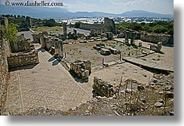 architectural ruins, europe, horizontal, kalkan, mosaics, roman, turkeys, photograph