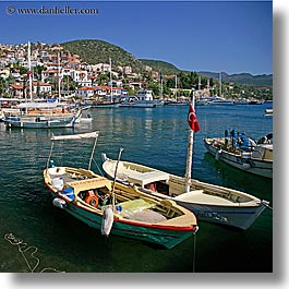 boats, europe, harbor, kas, square format, turkeys, water, photograph