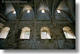 architectural ruins, century, churches, europe, horizontal, kaya koy, turkeys, photograph