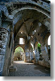 architectural ruins, century, churches, europe, kaya koy, turkeys, vertical, photograph