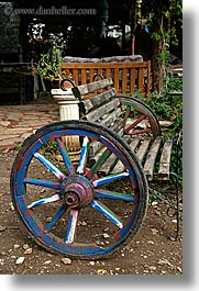colorful, europe, kaya koy, turkeys, vertical, wagons, wheels, photograph