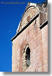 architectural ruins, churches, europe, kaya koy, moon, turkeys, vertical, photograph