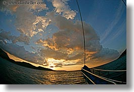 clouds, europe, fisheye lens, horizontal, ocean, ocean scenics, sunsets, turkeys, photograph