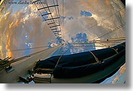 boats, clouds, europe, fisheye, fisheye lens, horizontal, mast, ocean, ocean scenics, sails, sunsets, turkeys, photograph