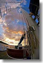 boats, clouds, europe, fisheye, fisheye lens, mast, ocean, ocean scenics, sails, sunsets, turkeys, vertical, photograph