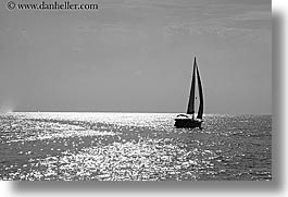 black and white, boats, europe, horizontal, ocean, ocean scenics, sailboats, sparkle, turkeys, photograph