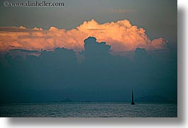 boats, clouds, europe, horizontal, ocean, ocean scenics, sunsets, turkeys, photograph