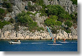 boats, europe, horizontal, ocean, ocean scenics, turkeys, windsurfer, windsurfing, photograph