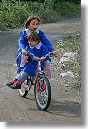 bicycles, europe, girls, people, turkeys, vertical, photograph