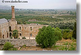architectural ruins, countryside, europe, horizontal, overlook, st johns basillica, turkeys, photograph