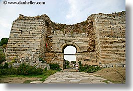architectural ruins, archways, entry, europe, gates, horizontal, st johns basillica, turkeys, photograph