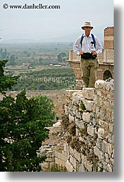 architectural ruins, europe, men, st johns basillica, turkeys, vertical, walking, photograph