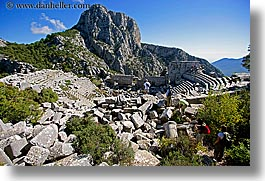 amphitheater, europe, horizontal, termessos, turkeys, photograph