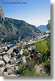 amphitheater, europe, termessos, turkeys, vertical, photograph