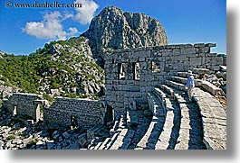 amphitheater, europe, horizontal, termessos, tourists, turkeys, womens, photograph
