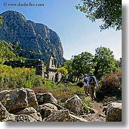 architectural ruins, europe, hiking, square format, termessos, turkeys, walk, photograph