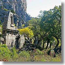 architectural ruins, europe, square format, termessos, turkeys, photograph